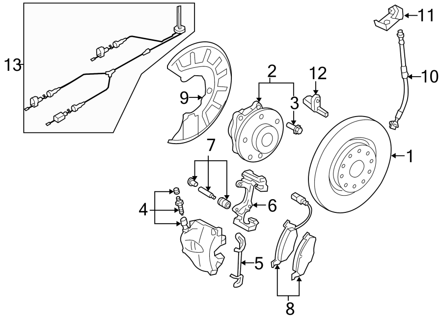 Diagram FRONT SUSPENSION. BRAKE COMPONENTS. for your Volkswagen